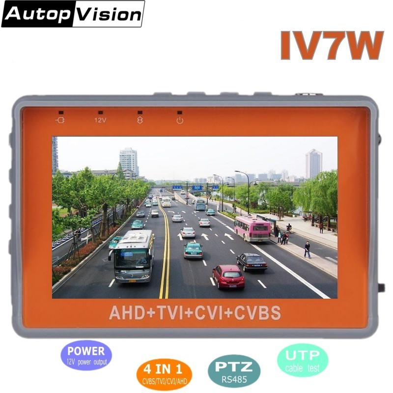 NEW Security CCTV IV7W Camera Tester 1080P / 5MP AHD & CVBS & 5MP TVI & 4MP CVI 4-in-1 Analog Video Tester Dorpshpping