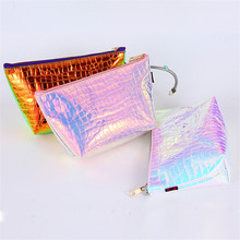 Fashion Waterproof Laser Cosmetic Bags Women Neceser Make Up Bag PVC Pouch Wash Toiletry Travel Organizer Case