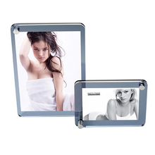 (Pack/5 Sets, 2 Units/set) Multi( Two Acrylic Frames) Clear Acrylic Photo frames With Magnetic For Home Decor PF013