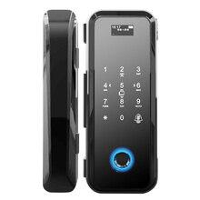 Smart Fingerprint Glas Türschloss Sicherheit Biometrische Keyless Elektrische Lock Einfach Installieren Code RFID Karte Remote Mobilen APP Entsperren