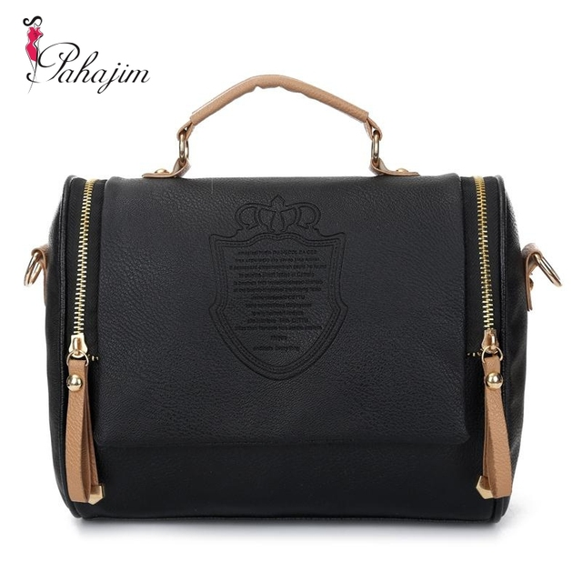 2018 Preppy Style Stamp Women Leather Handbags Messenger Bags Bag