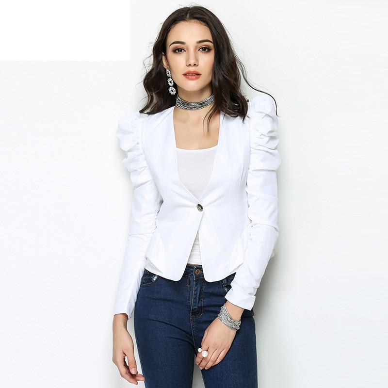 Femmes Costume Tops De Bureau blanc 2018 Veste Costumes Femme Manteaux Noir Automne Top Blazer Vestes Manteau Blazers Travail Cape Formelle Piste U0xqgpdw0