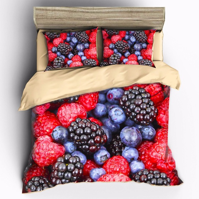 AHSNME High-precision high-color printing Blueberry variety of fruit Bedding Sets Duvet Cover pillowcase set