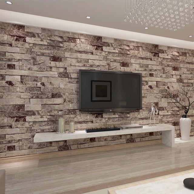 HANMERO PVC Vinyl Moderne Faux Ziegel Stein 3D Tapete wohnzimmer ...