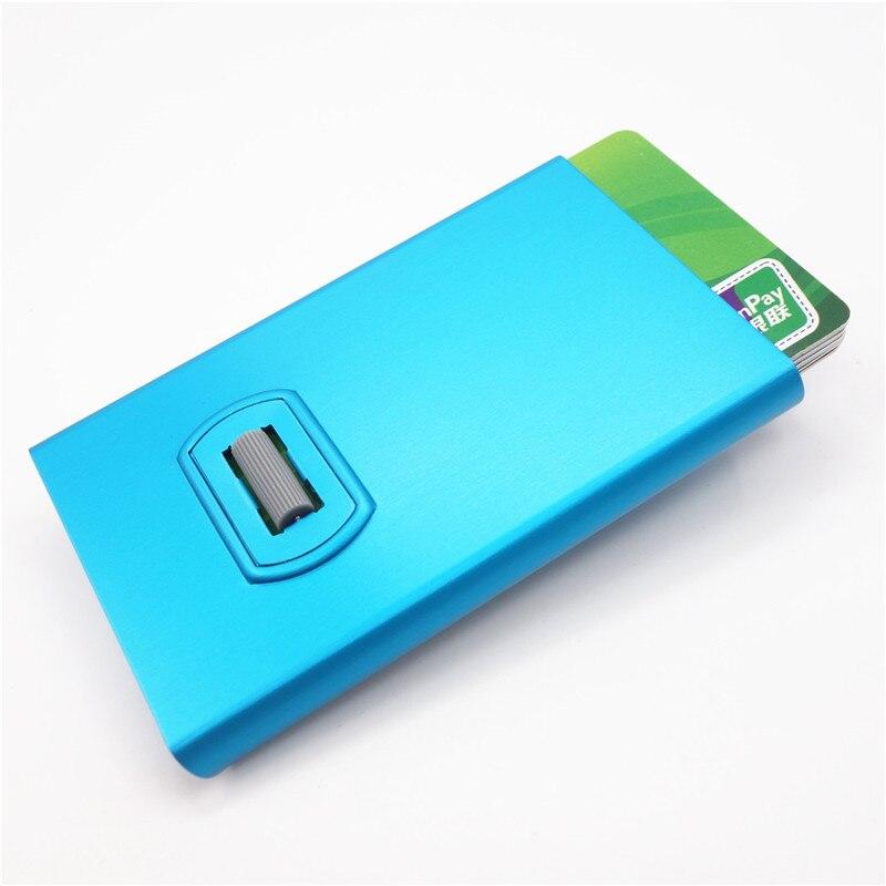 Artmi Kreditkorthållare med Spining Button RFID Aluminum Stilig Card - Plånböcker - Foto 3