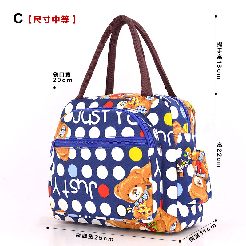 2018 Hot Variety Pattern Lunch Bag Portable Insulated Iunch Bags Thermal Food Picnic Lunch Box For Women Kids