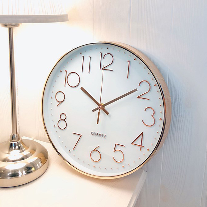 Quartz-Clock Bedroom Rose-Gold Office Home-Decoration Hotel Fashion Livingroom for Ornament