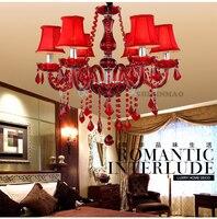 Fabrik direkt Luxus RED Europäischen stil wohnzimmer kristall lampe wohnzimmer dekoration esszimmer/schlafzimmer/wohnzimmer