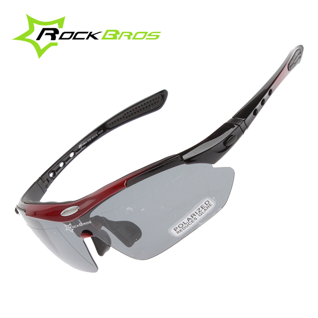 f9b704f0a5 RockBros Polarized Cycling Sun Glasses Outdoor Sports Bicycle Glasses Bike  Sunglasses TR90 Goggles Eyewear 5 Lens