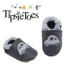 TipsieToes/брендовая кожаная обувь с рисунком автомобиля; мягкая подошва; обувь для малышей; мокасины для мальчиков; обувь для первых шагов; Новинка года; сезон осень-весна; модная обувь