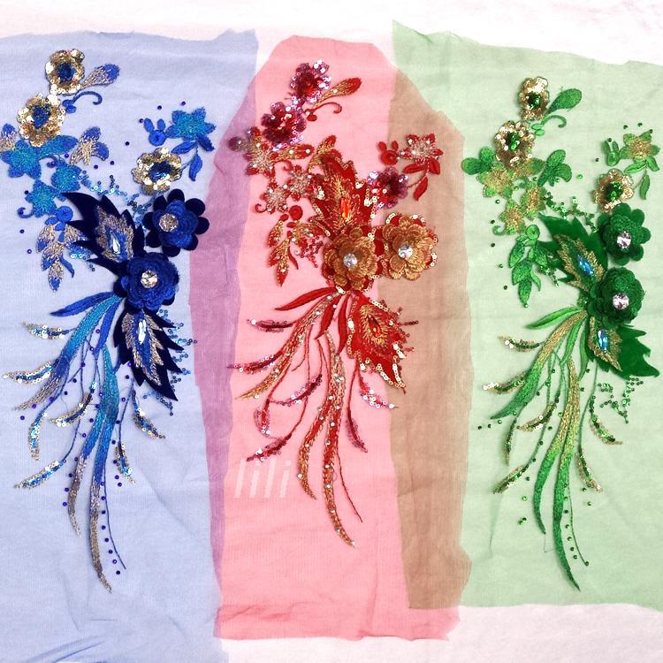 Gratis pengiriman menjahit pada 6 warna patch renda applique 40 * 20 - Seni, kerajinan dan menjahit - Foto 1