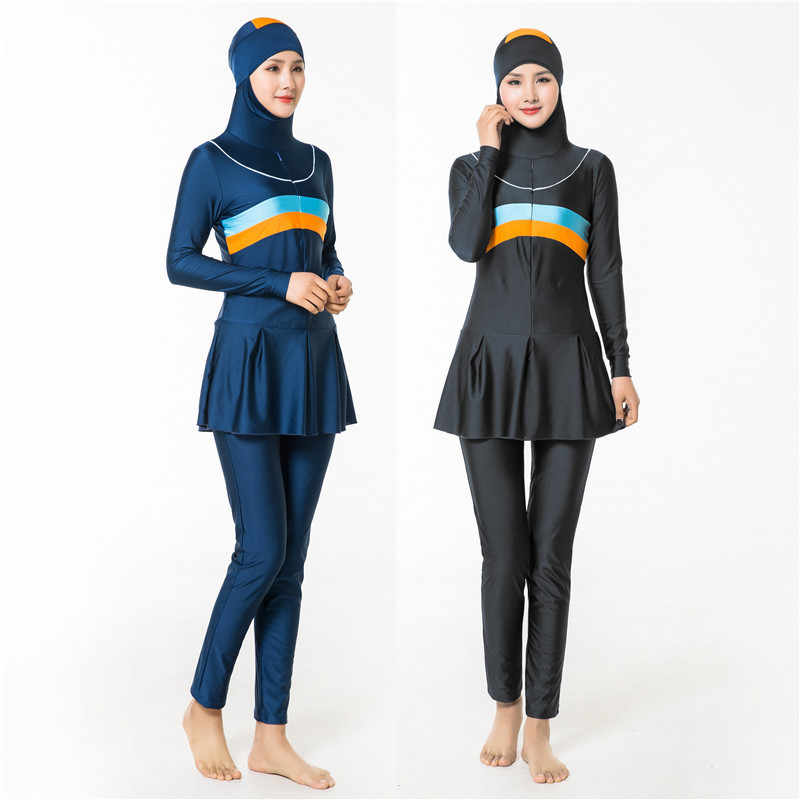 79379fe6f Women Plus Size 4XL Islamic Swimsuit Muslim Swimwear Full Coverage Hijab Swimming  Beachwear Muslims Beachwear Swim