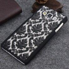 Vintage Damask Flower Pattern Case for Samsung Galaxy S8 S4 S5 S6 S7 Edge A3 A5 A7 J5 J7 2015 2016 Grand Prime G530 Note3/4/5