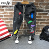 Fashion Jeans For Boys Girl Pants 2018 New Children Tracksuits Print Broken Hole Pants Children Trousers
