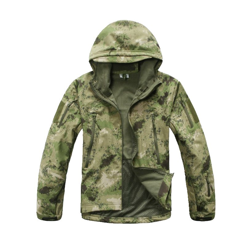 TAD Lurker Shark Soft Shell Waterproof Hunting Jacket Tactical Jacket Windbreaker Outdoor Camping Hiking Army Jacket Men Coat lurker shark skin soft shell v4 military tactical jacket men waterproof windproof warm coat camouflage hooded camo army clothing