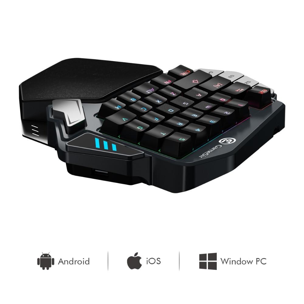GameSir Z1 Gaming Clavier: Bleu Axe mécanique clavier RGB blacklight d'une seule main PC clavier pour FPS, PUBG-comme jeux