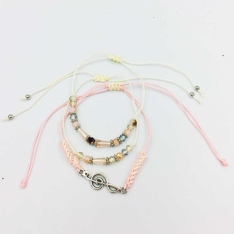 2019 Fashion Boho Crystal Beads Charm snail Bracelets  For Women Express love Gift Jewelry Rope Bracelet Femme Pulseras