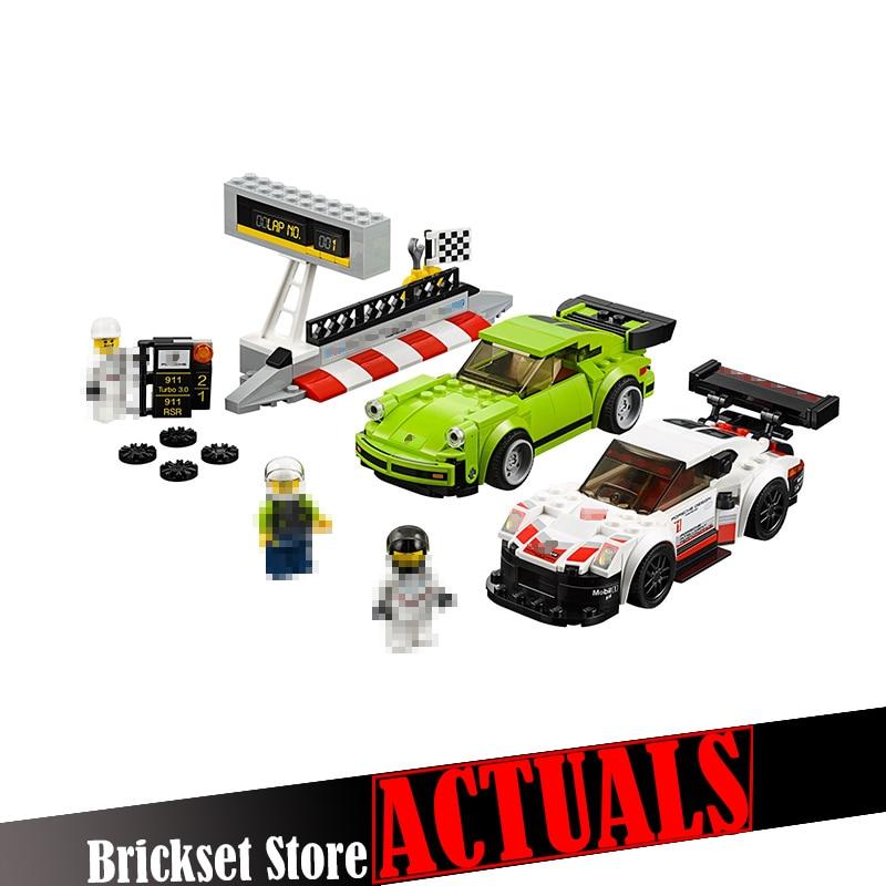 Lepin 28018 438Pcs Genuine Car Series The Turbo 3.0 Racing car Set Building Blocks Bricks Toys Model for Children gift LegoINGly
