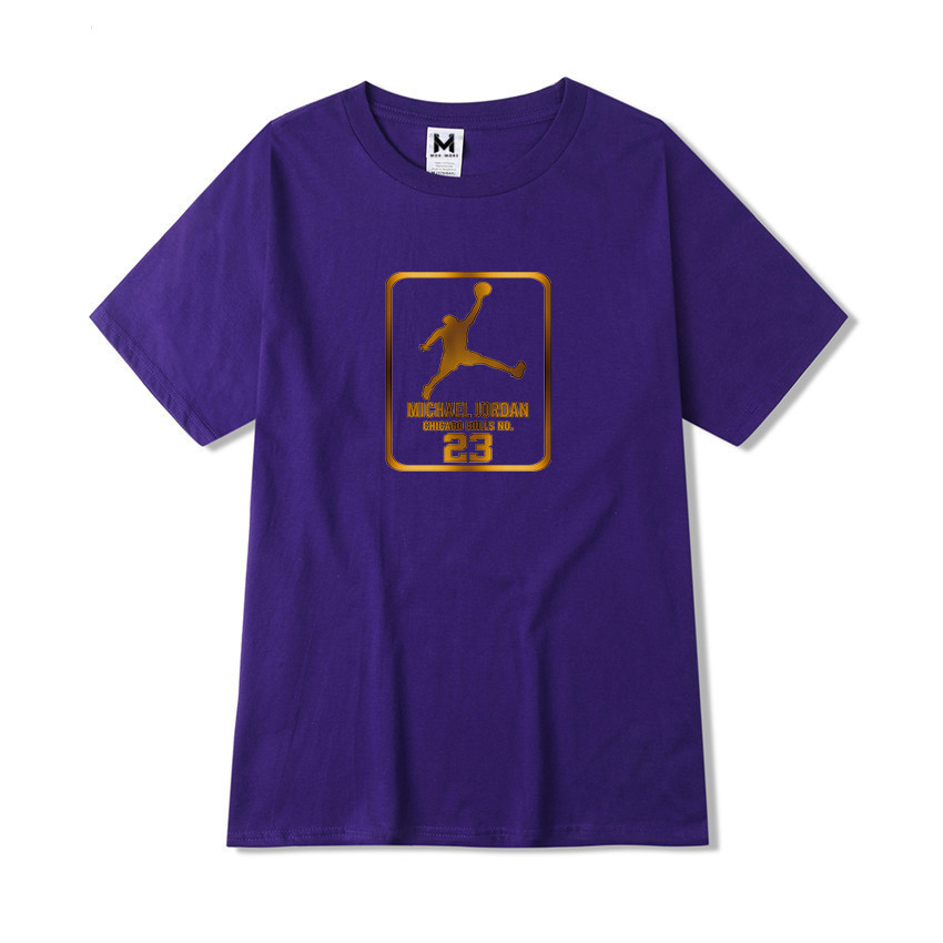 00d64aedab0fbe 2018 New Creative Jordan Printing Wild Men T shirt Fashion Business Casual Large  Size High Quality Short Sleeve Mens T shirt