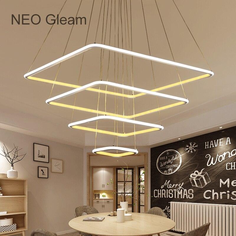 NEO Barlume di Minimalismo Moderno Led A Sospensione lampadario Per ...