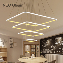 NEO Gleam Minimalism Modern Led Hanging chandelier For Dining Room Kitchen Room White Color Aluminum pendant chandelier Fixtures minimalism cone modern pendant lights for dining room white black yellow color aluminum hanging lamp fixtures e27 droplight