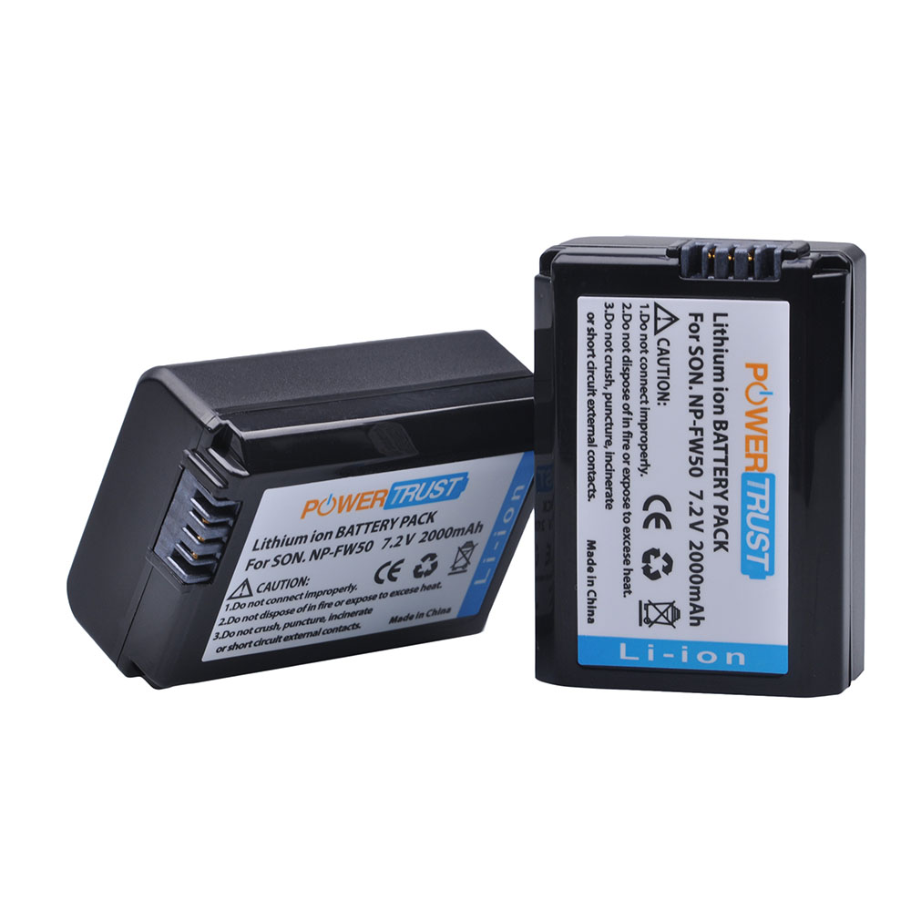 2Pcs 2000mAh NP-FW50 NP FW50 NPFW50 Battery for Sony A6500 Alpha 7 7R II 7S a7S a7R II a5000 NEX-7 SLT-A37 DSC-RX10 RX10 II III