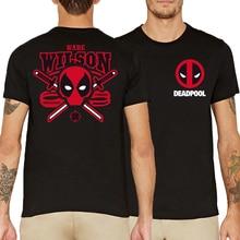 men unisex fashion hip-hop brand clothing funny DEAD POOL streetwear camisetas 2017 summer short sleeve cotton tops geek t-shirt