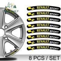 EARLFAMILY 13cm x 1.3cm 8x for Renault Sport Rim Stickers Wheel Stripes Set Emblem Car Motorcycle Tuning Decal Flat Glue Sticker