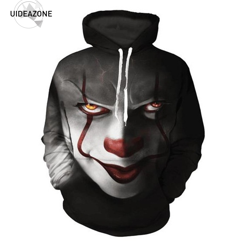 Pennywise 3D Clown Hoodie Sweatshirt Männer Frauen Pullover Hoody Tops Sudadera Hombre Casual Marke Sportswear Trainingsanzug EUR Größe