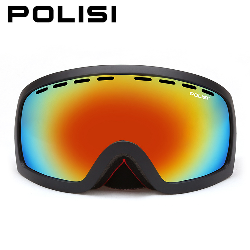 POLISI Men Women Snowboard Ski Goggles Polarized Anti-Fog Double Layer Lens Esqui Snow Glasses Outdoor Sport Skate Eyewear foldable anti glare polarized windproof goggles anti fog glasses unisex