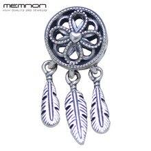 Spiritual Dream catcher Dangle Charms 925 sterling Silver fit Bracelet Necklace pendant charm DIY for women Memnon Jewelry DA276