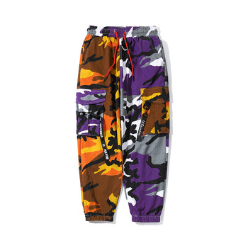 2018 Mens Fashion Splice joggers pants Camo pants Cargo pants Men Camo Pants Mens Trousers US Size M-XXL Bullet Cheetah