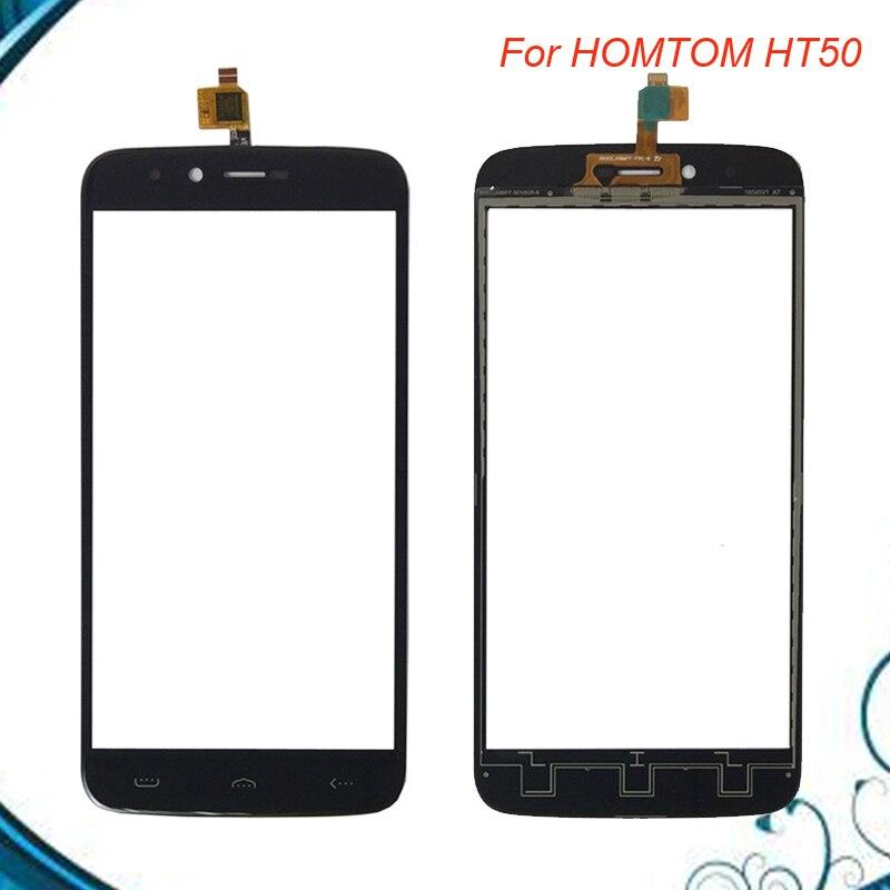 5.5 pollice Per HOMTOM HT50 HT 50 Touch Screen In Vetro 100% Nuovo Vetro del Pannello di colore Nero IN Azione