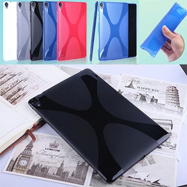 New Ultra Silicone Anti-skid X Line Soft Silicon Rubber TPU Gel Skin Shell Cover Case For Google Nexus 9 Nexus9 2015 8.9 Tablet new x line soft clear tpu case gel back cover for samsung galaxy tab s2 s 2 ii sii 8 0 tablet case t715 t710 t715c silicon case