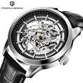 PAGANI дизайнерский бренд Лидер продаж 2019 Скелет Полые кожаные мужские наручные часы Роскошные Механические Мужские часы Новые Relogio Masculino