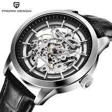PAGANI עיצוב מותג מכירה לוהטת 2019 שלד חלול עור גברים של יוקרה שעוני יד מכאני זכר שעון החדש Relogio Masculino