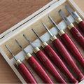 8PCS HSS In Miniatura Tornio Scalpello SET Per Piccoli Dettagli Imballato con Scatola Di Legno