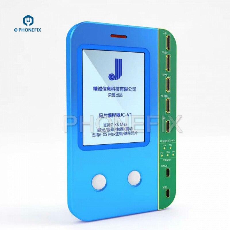 JC PHONEFIX V1 de Dados Eeprom Programador Programador Para iPhone 7 8 X XS MAX Luz Sensor de Toque Vibrador De Gravação de Dados recuperação