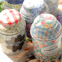 3PCS LOT Tin Scented Tea Pot Sealed Cans Candy Snack Jars Coffee Beans Creative Home Storage