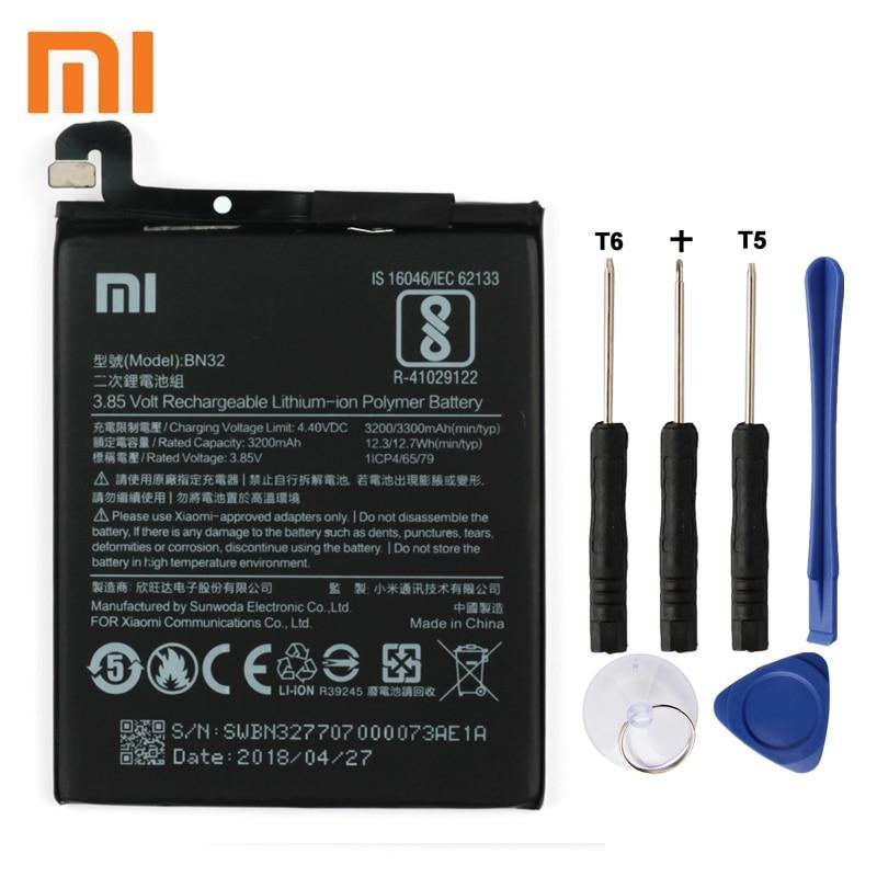 Xiao Mi Xiaomi BN32 Phone Battery For mi  3300mAh Original Replacement + Tool