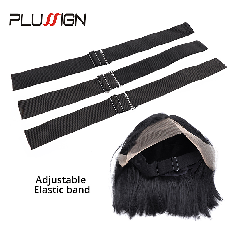Adjustable Wig Elastic Band For Wigs Anti-slip Fixed Black Sewing Wig Kit 25mm 35mm Width Plussign Supply Wig Accessories