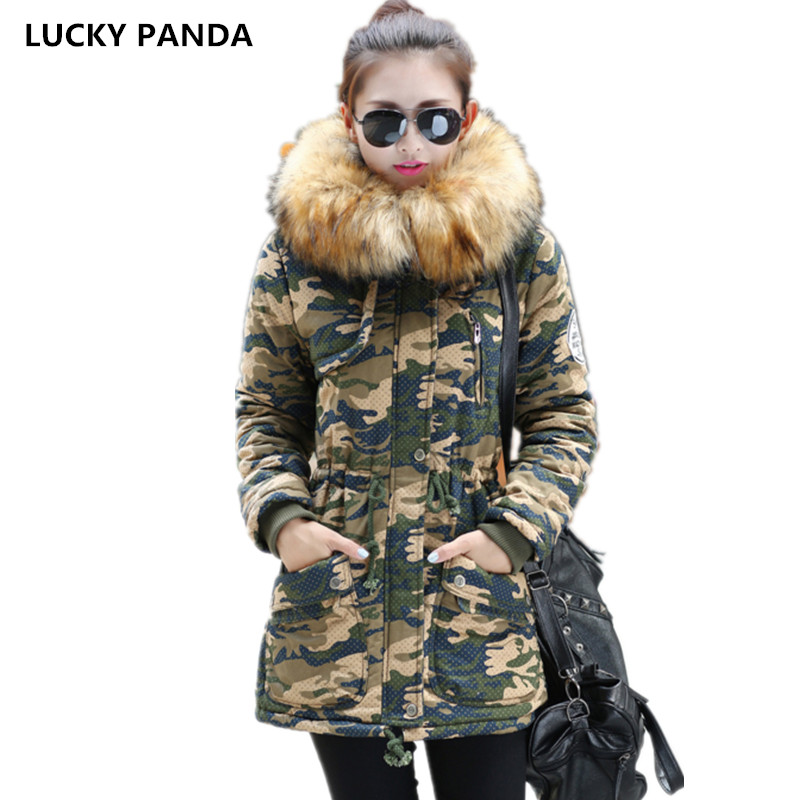 Lucky Panda 2016 New autumn and winter in the long thick thin padded collar size large LKP242 эхолот lucky ffw718li
