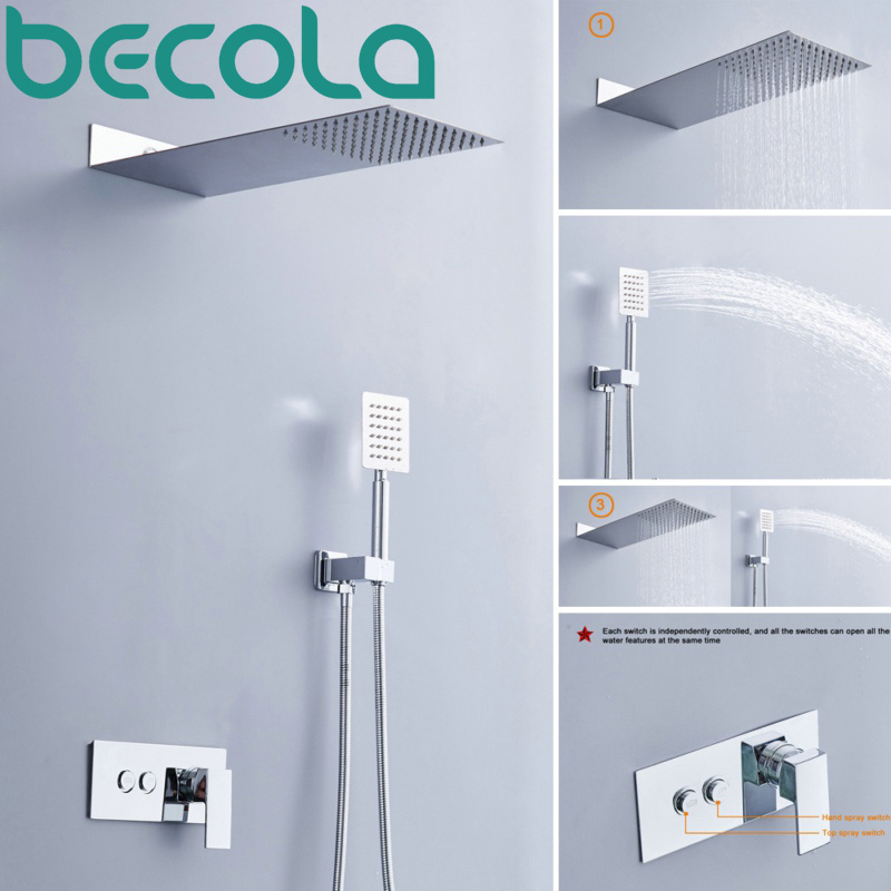 brass shower faucet Picture - More Detailed Picture about becola ...