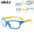 2017 Marca de Alta Calidad de Silicona Gafas de Marco Marco de Los Vidrios Claros Lentes Flexibles Para la Muchacha Del Muchacho de Montura de gafas Ópticas