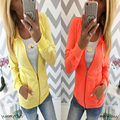 Rushed Regular Broadcloth Full 2016 Fashionable Hot Style 2 Color Orange/yellow Autumn Female Sale With Hood Zc2134 Thick Coat