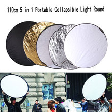 цена на 43 110cm 5 in 1 Collapsible Reflector Multi-Disc Light Round Photo Studio Accessories Handhold Portable Photo Disc Diffuers