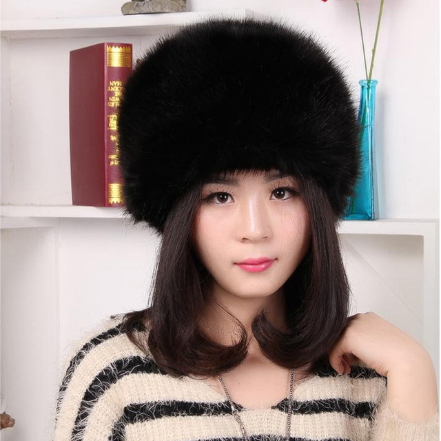 Faux Fur Bomber Hat Winter Solid Color Women Hat Russian Thick Cap Keep Ear Warm Beanies 4 Colors Outdoor Ski Candy Color Hats