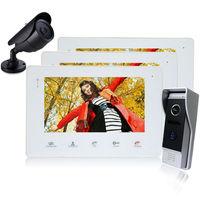Homefong 7 Inch TFT Touch Screen Color Video Door Phone Cmos Night Vision Camera Intercom system 1 2 Door Bell Rings