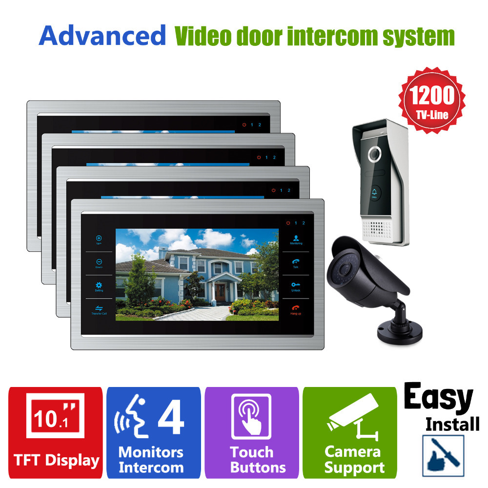 Homefong door video camera video doorbell system with for Door video camera