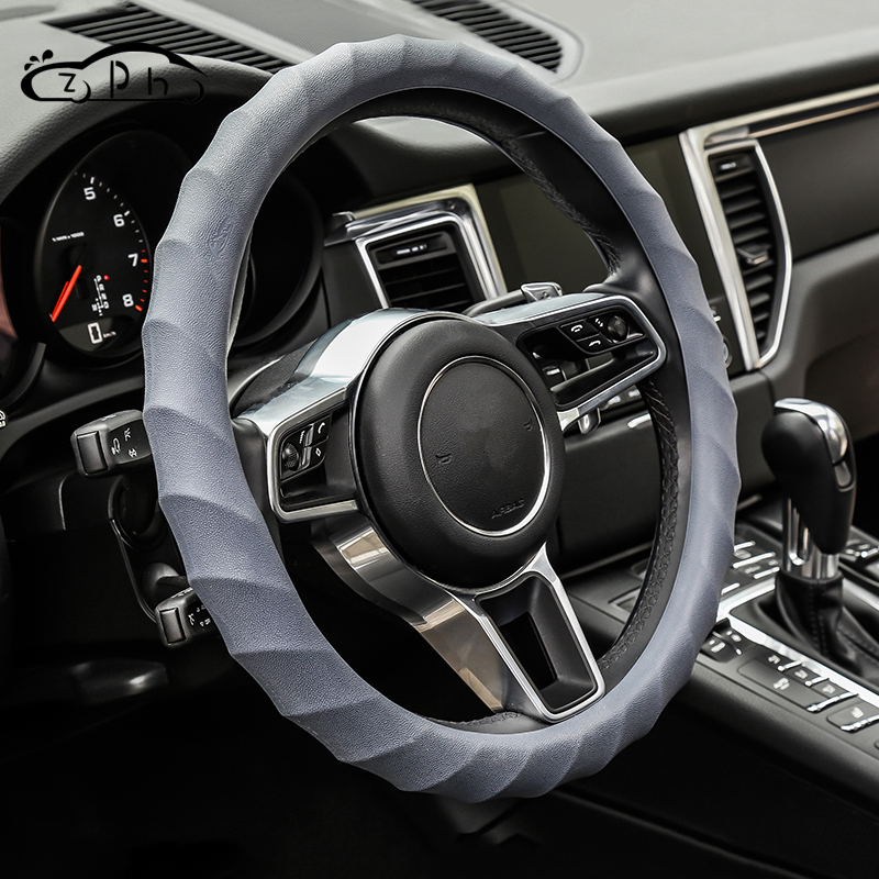 Universal Silicone Car Steering Wheel Cover Case for BMW E46 E90 Ford Focus 2 Volkswagen Kia Optima K5 Suzuki Sx4 Honda Civic in Steering Covers from Automobiles Motorcycles